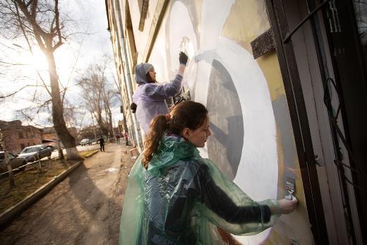 Студенты и преподаватели нарисовали самый большой в РФ стрит-алфавит
