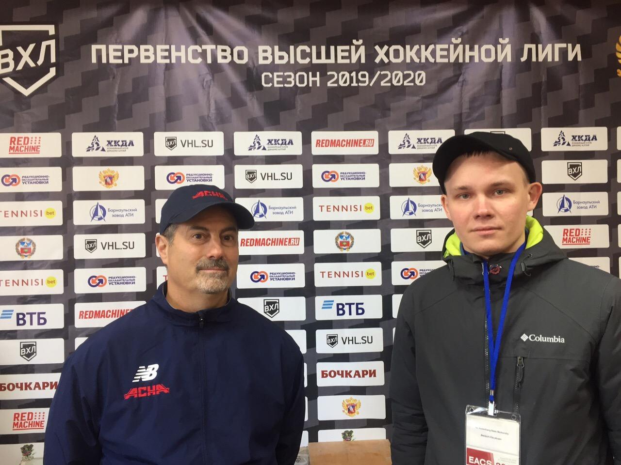 Студент ФИЯ выступил переводчиком у американской хоккейной команды