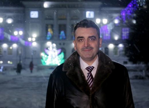 Поздравление ректора ТГУ Эдуарда Галажинского с Новым, 2018 годом