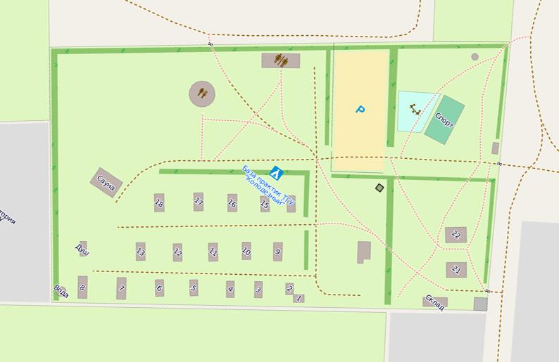 Схема базы отдыха ТГУ «