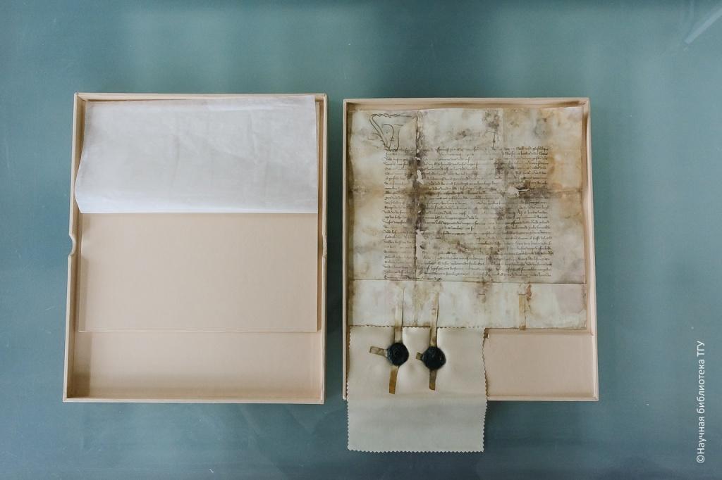 Реставраторы ТГУ восстановили немецкую грамоту, выданную в 1419 году