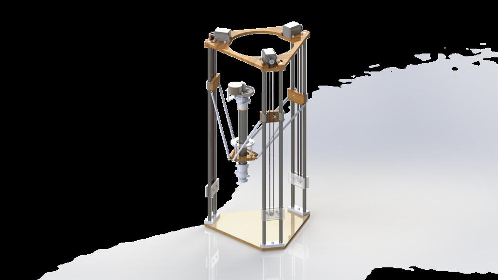 Модель 3-D принтера для печать керамики