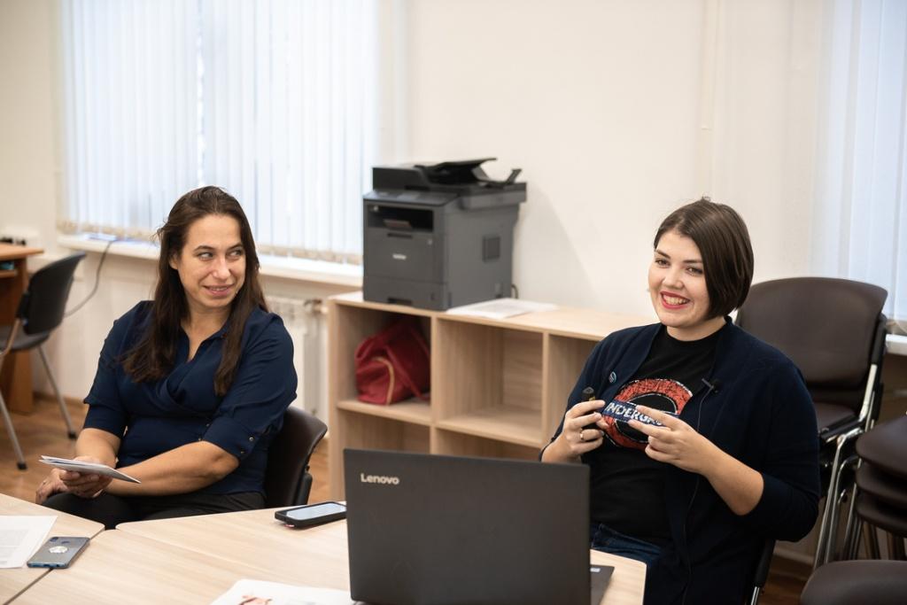 Дарья Маслова рассказывает о возможностях Центра разработки и сопровождения онлайн-курсов ТГУ.